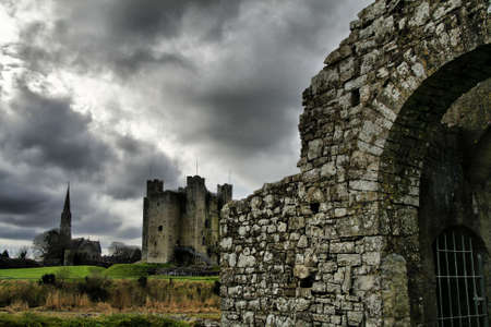 co  meath: The gate of Yellow Tower of the Abbey of St. Mary, Trim, Co. Meath.