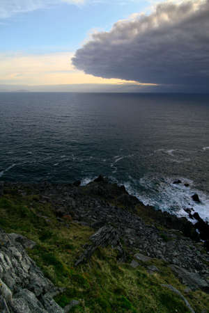 Thunderstorme eye approaching ireland coast at dingle peninsula sle head Stock Photo - 5886860