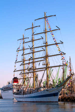 Tall ships in Klaipeda port during 2009 races photo