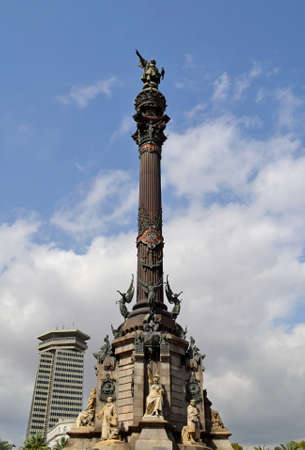 Christopher Columbus monument in Barcelona, Spain photo