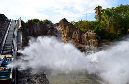 port aventura: Tutuki splash, Port Aventura amusement park, September 17, 2012, Spain