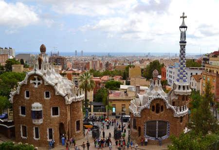 Park Guell Antoni Gaudi in Barcelona,