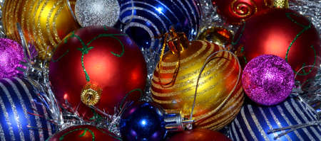 Colorful Christmas Balls as a background photo