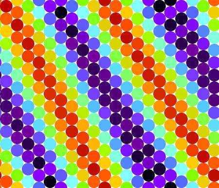 Seamless pattern with colorful circles