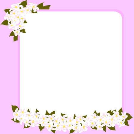 Wedding card with space for your text decorated with flowers photo
