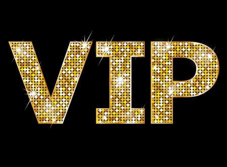celebrity: Very important person - VIP icon Stock Photo
