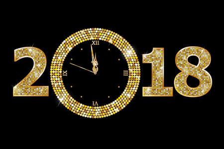 Šťastný Nový Rok 2018 Ilustrace