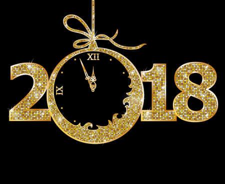 新年快樂2018 向量圖像