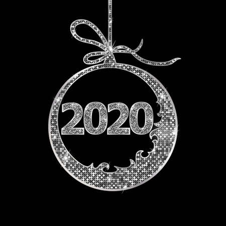 2020 New Year Clock Sign