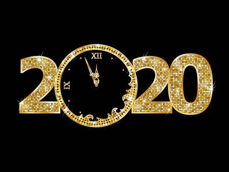 Happy new year 2020 text
