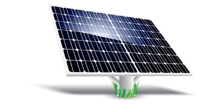 volts: Solar Panel Illustration