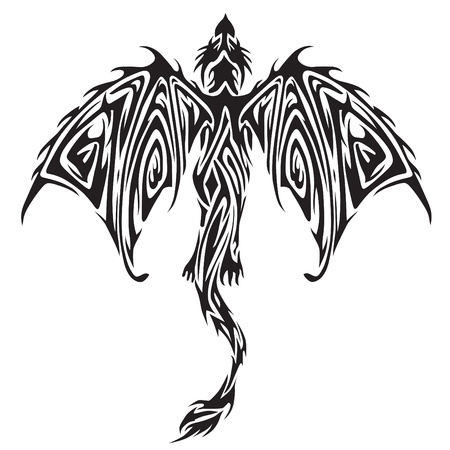 tribal dragon: Tribal tattoo
