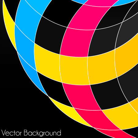 cmyk abstract: Colorful abstract geometric