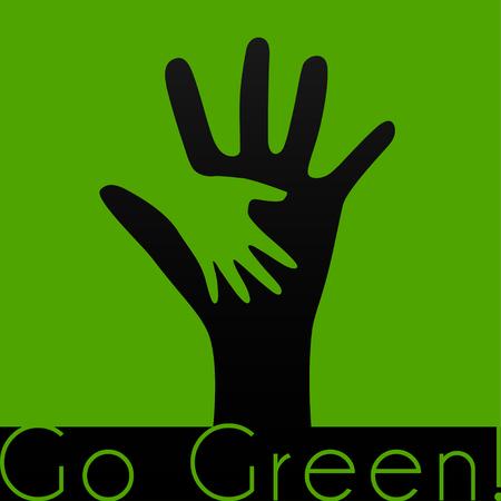 helping hand: child go green