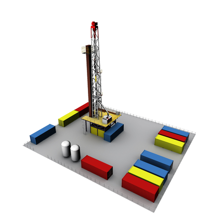 drilling rig: 3D Oil Drill Environment