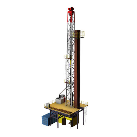 drilling rig: 3D Oil Drill Stock Photo