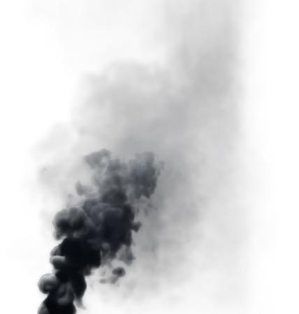 black smoke 2 alpha map in my gallery Stock Photo