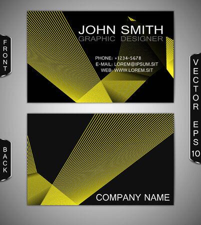 Abstract Lines   Modern Business-Card Set   EPS10 Vector Design Иллюстрация