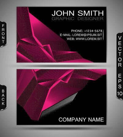businesscard: Abstract Lines   Modern Business-Card Set   EPS10 Vector Design Illustration