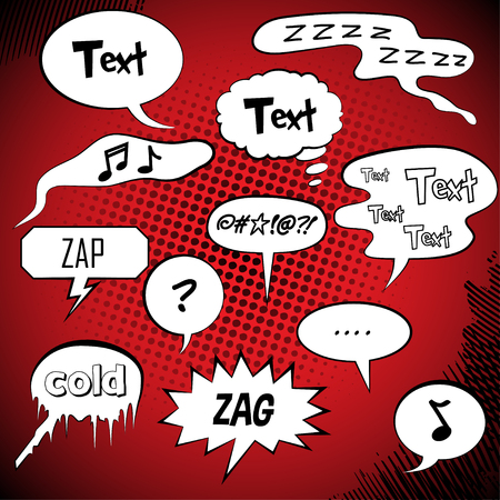 comic book: Comic Style Speech Bubbles Collection Set   Vector Illustration
