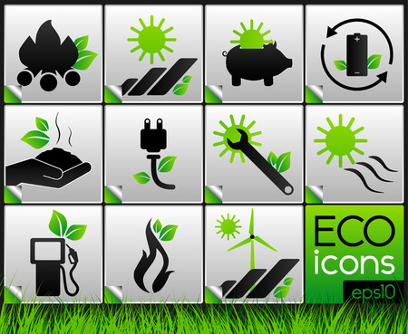 natural resources: Eco Icons