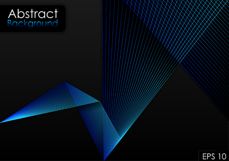 Abstract Blue Lines Backdrop Vector