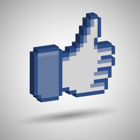 social network: Like Symbol     Illustration