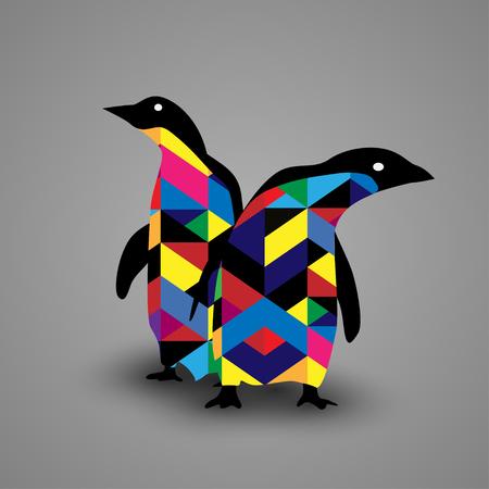 Pingüino Diseño Ilustración de vector