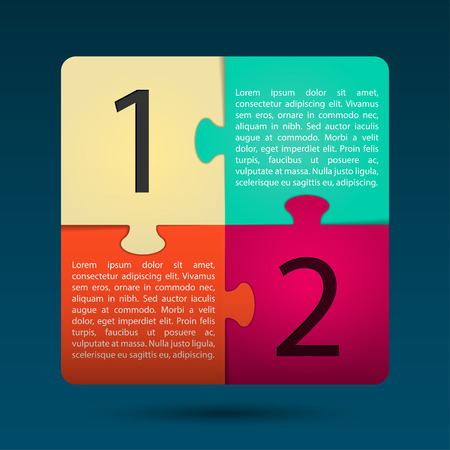 Modern Puzzle Design Layout     Vector