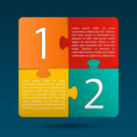 Modern Puzzle Design Layout      イラスト・ベクター素材