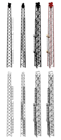 Tower Front Side Perspective Wireframe view Stock Vector - 23311004