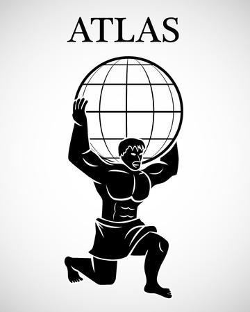 様式化されたアトラス
