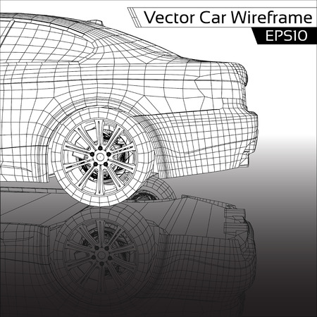 automobile industry: Car Wireframe