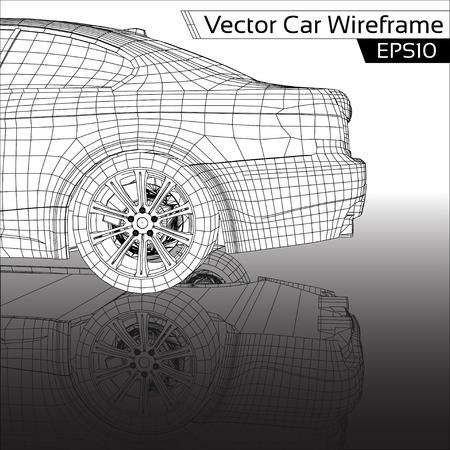 car transportation: Wireframe Coche