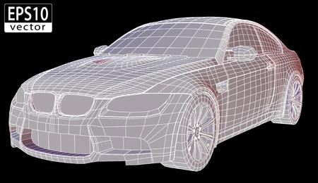 car showroom: Car Wireframe