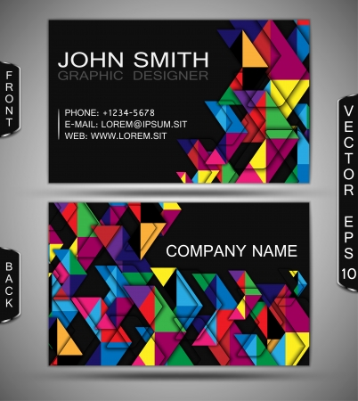 moving forward: Modern Business-Card Set