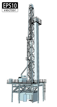 drilling machine: 3D Oil Drill    Illustration
