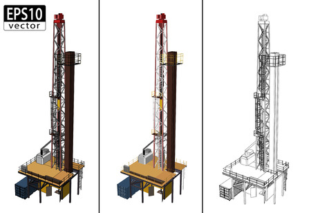 derrick: 3D Oil Drill     Illustration