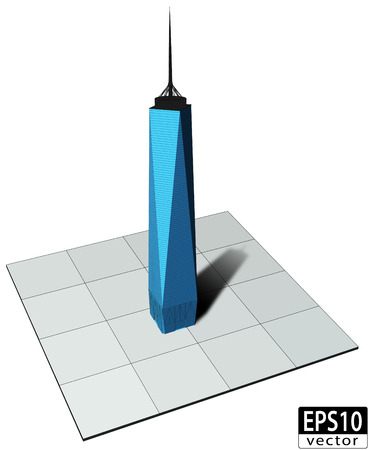3d freedom tower Vector