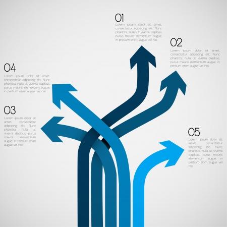 flecha direccion: Diferentes Infograf�a Way EPS10 Vector