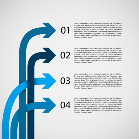 Different Way Infographics   EPS10 Vector