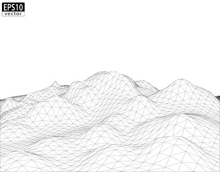 the surround: 3D Wireframe Terreno EPS10 Vector