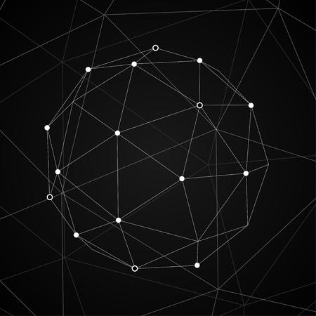 lineas blancas: Conecte EPS10 Vector