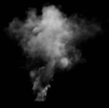 Grey Smoke Stock Photo
