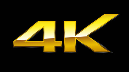 4K Sign  Gold    EPS10 Vector