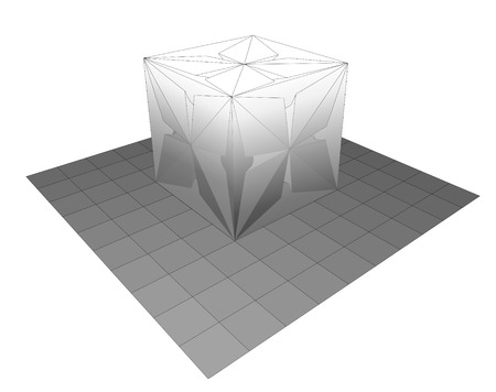 3D Printing   EPS10 Vector