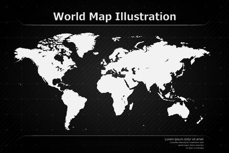 Modern World Map Illustration   EPS10 Vector