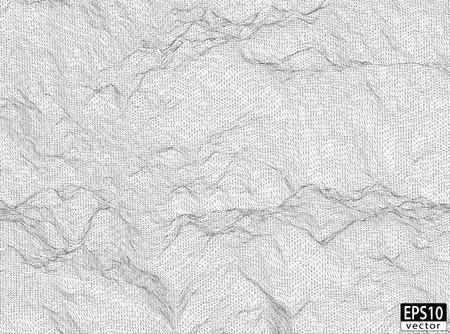 longitude: 3D Detailed Hill Wireframe   EPS10 Vector