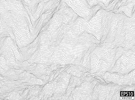 3D Detailed Wireframe   EPS10 Vector Ilustração