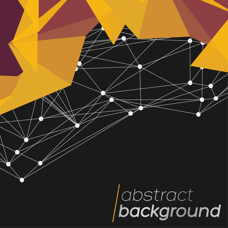 high detail: Abstract mesh background with circles, lines and shapes   EPS10 Futuristic Design